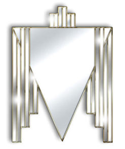 danube gold art deco mirror