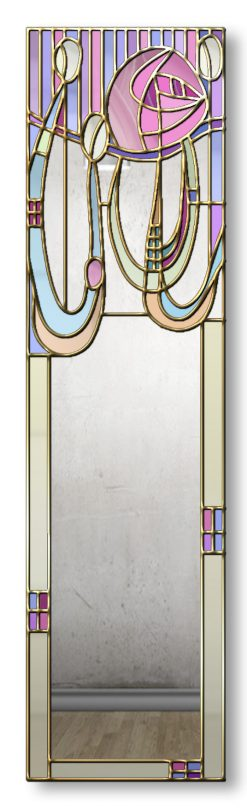 Anabel Handcrafted finished in Gold Trim Rene Mackintosh Mirror