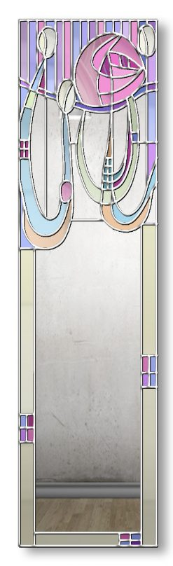 Finished in Silver Trim Anabel Original Handcrafted Rene Macintosh Mirror