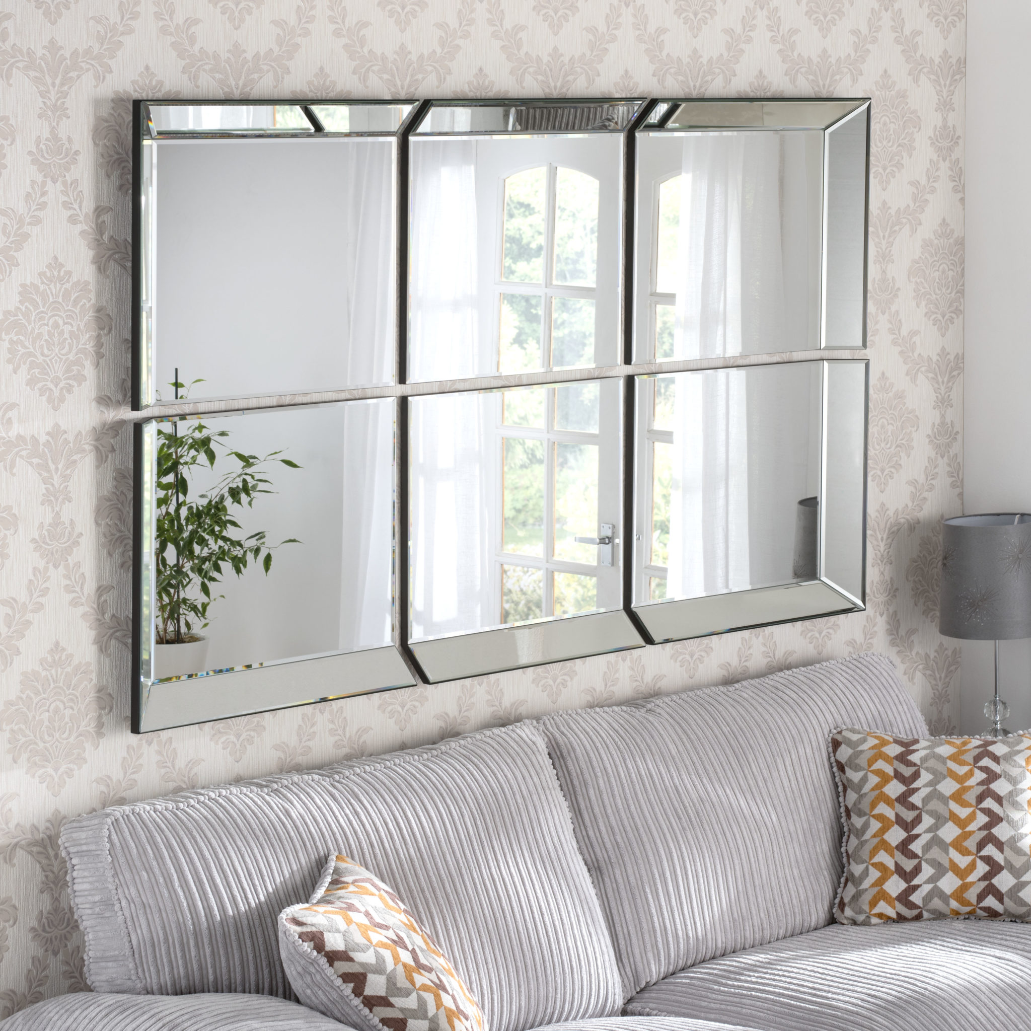 Victoria Window Styled Handmade Bevelled Over Mantle Wall Mirrors Bespoke Mirrors Art Deco Mirrors Custom Made Mirrors