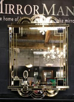 Hepburn art deco in gold mirror