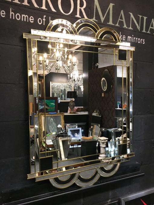 Hepburn art deco in gold and black mirror