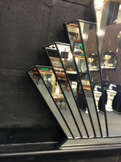 venus art deco over mantle fan mirror