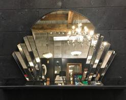 venus art deco fan wall mirror