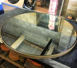 princeton gold round mirror