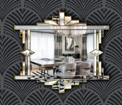 Over Mantle Fan Wall Mirror