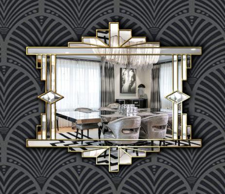 Over Mantle Fan Wall Mirror