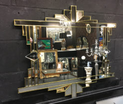 art deco gold wall mirror