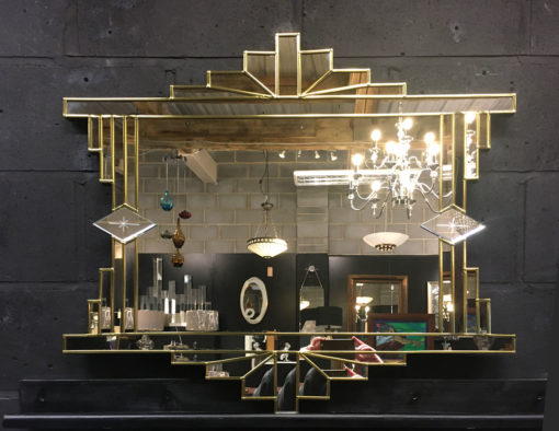 art deco gold mirror