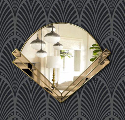 claricel bronze glass gold wallpaper mirror