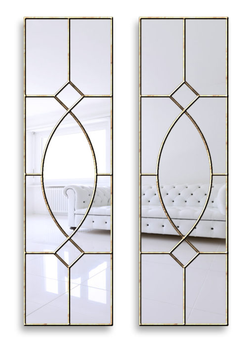 gretta brass gothic wall mirror