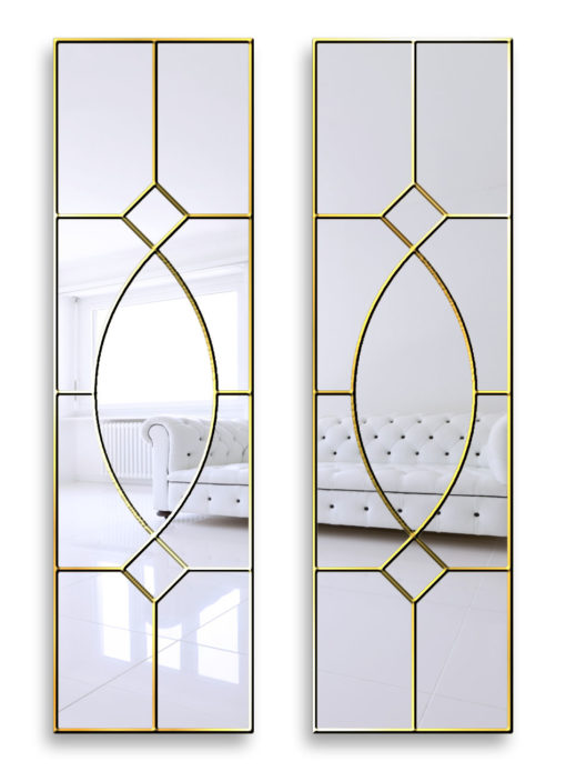 gretta gold gothic wall mirror
