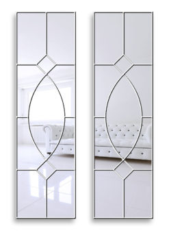gretta white gothic wall mirror