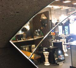 art deco fan wall detail mirror