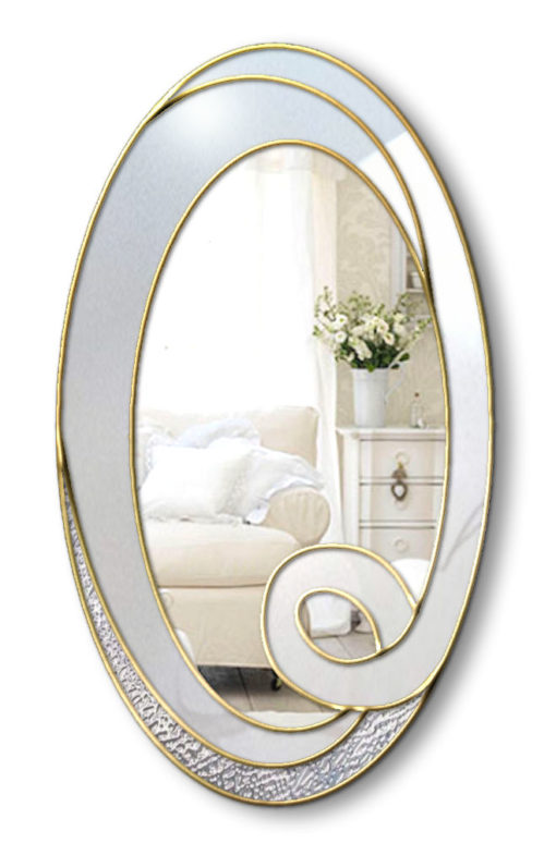 hope white and gold wall miror