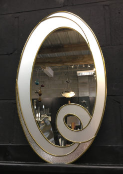 hope white and gold modern showroom wall miror