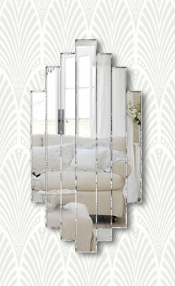 art deco handmade romance wall mirror