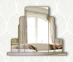 arlington art deco over mantle wall mirror