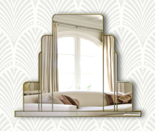 arlington art deco over mantle wall mirror