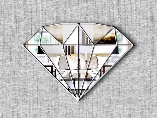 marquise art deco diamond mirror