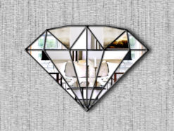 marquise art deco diamond mirror