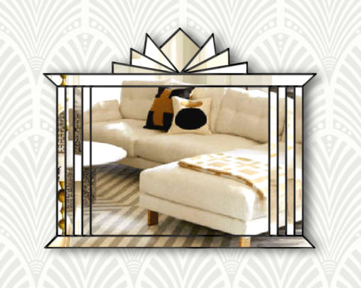 hobart art deco wall mirror