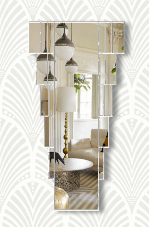 rialto bevelled art deco wall mirror