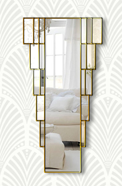 rialto goldart deco wall mirror
