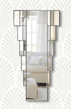 rialto silver art deco wall mirror