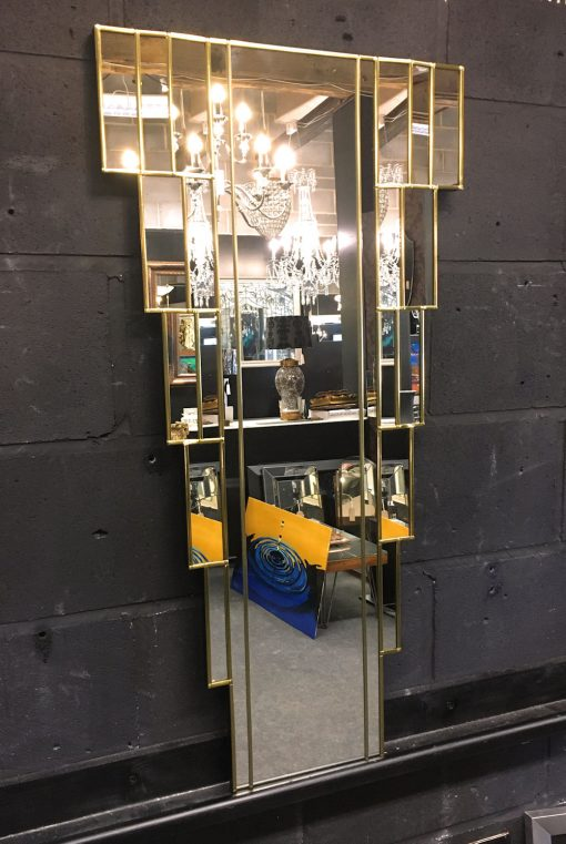 Rialto Gold Art Deco Wall Mirror