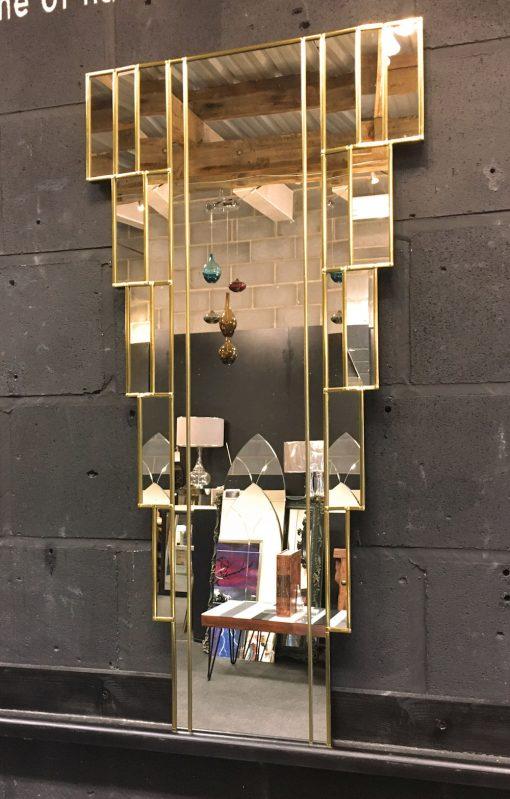 Rialto Gold Art Deco Wall side Mirror