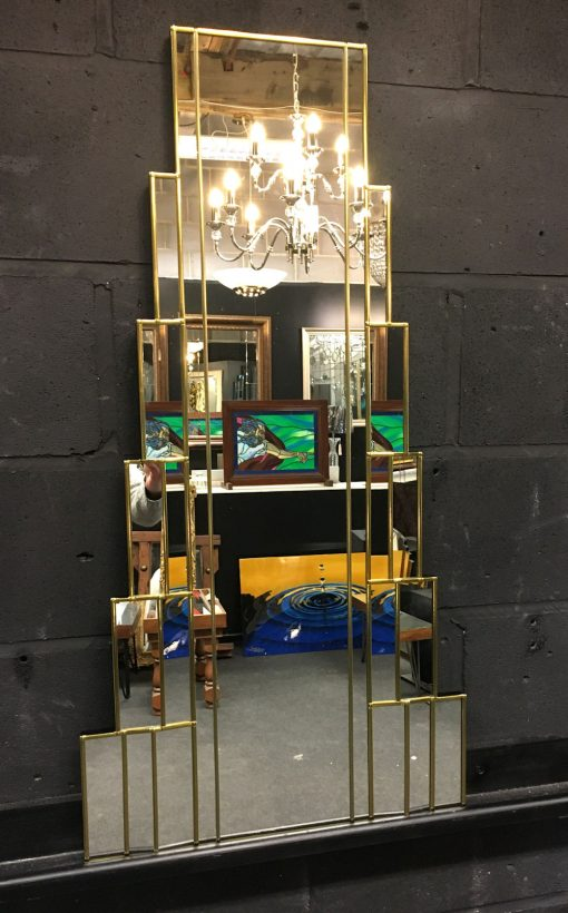 Rialto Gold Art Deco Wall inverted Mirror