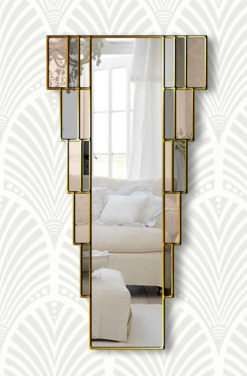 rialto bronze art deco wall mirror