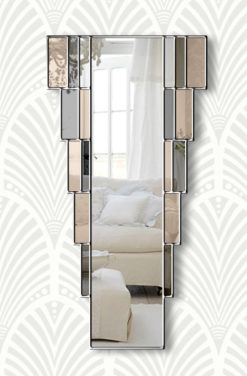 rialto art deco wall mirror