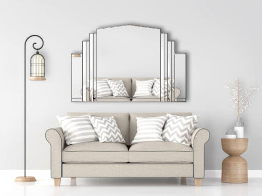 serenity over mantle art deco wall mirror