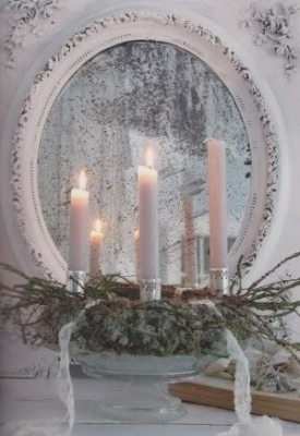 Christmas Mirror Candles