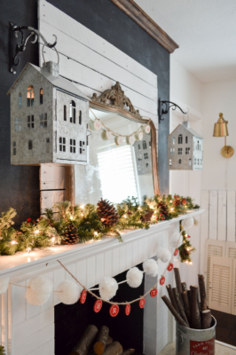 Christmas Mirror Mantle