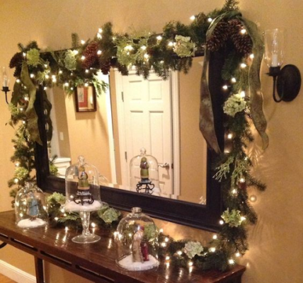 Christmas Mirror With Garlands