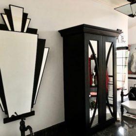 babushka art deco testimonial mirror