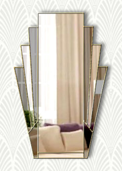 art deco minerva smoke fan mirror