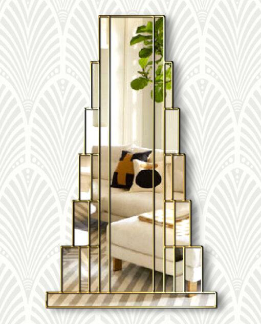 staten island art deco full length wall mirror