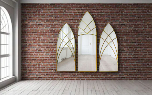 amoret gothic triptch wall mirrors