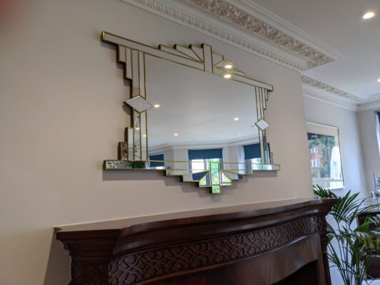 mia art deco mirror