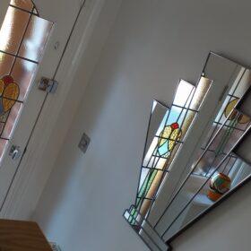 charleston art deco wall mirror