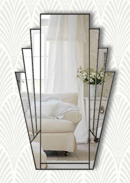 minerva clear black trim mirror