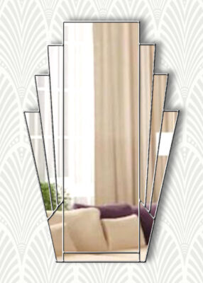 minerva clear mirror silver trim mirror