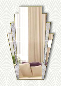minerva clear with texture 2 gold trim mirror