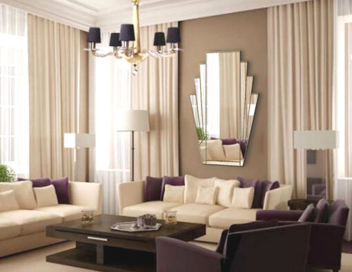minerva room setting clear gold trim