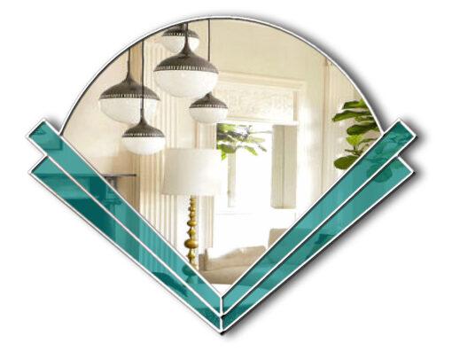 clarice art deco fan wall mirror