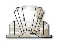 knightsbridge fan art deco wall mirror